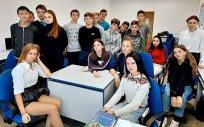Uczniowie szkoły z Ozierska w Rosji.