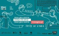 Plakat programu Fundacji Batorego – akcja Masz Głos 2021