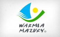 Logo Województwa Warmińsko-Mazurskiego z napisem Warmia Mazury