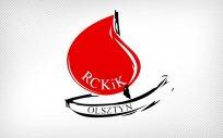 Logo Regionalnego Centrum Krwiodawstwa i Krwiolecznictwa. Rysunek serca i napis RCKIK Olsztyn.