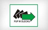 Logo Powiatowego Urzędu Pracy w Olecku z napisem PUP w Olecku
