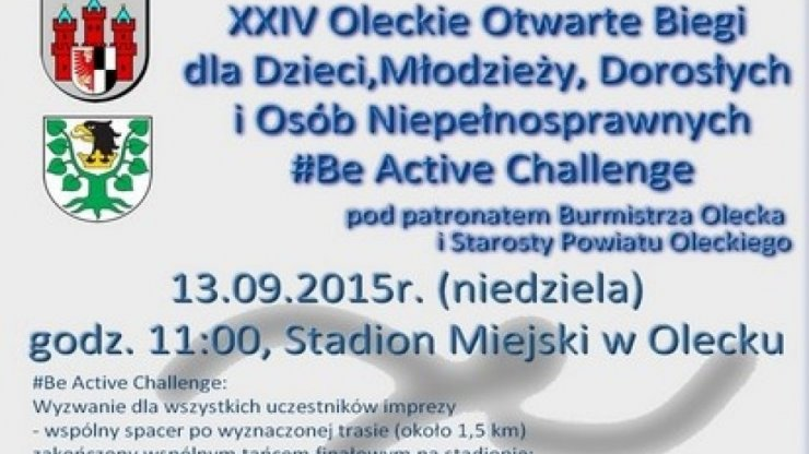 Be Active Challenge – XXIV Oleckie Otwarte Biegi