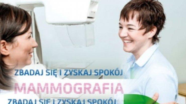 Zgłoś się na bezpłatną mammografię!