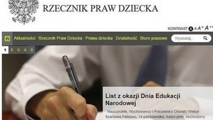 List Rzecznika Praw Dziecka z okazji Dnia Edukacji Narodowej