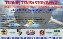 Turniej Tenisa Stołowego o Puchar Prezesa MLKS Czarni Olecko