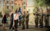 Przyrzeczenie rekrutów z Jednostki Strzeleckiej