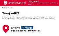 Twój e-PIT na Portalu Podatkowym