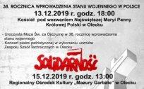 38. rocznica wprowadzenia stanu wojennego w Polsce
